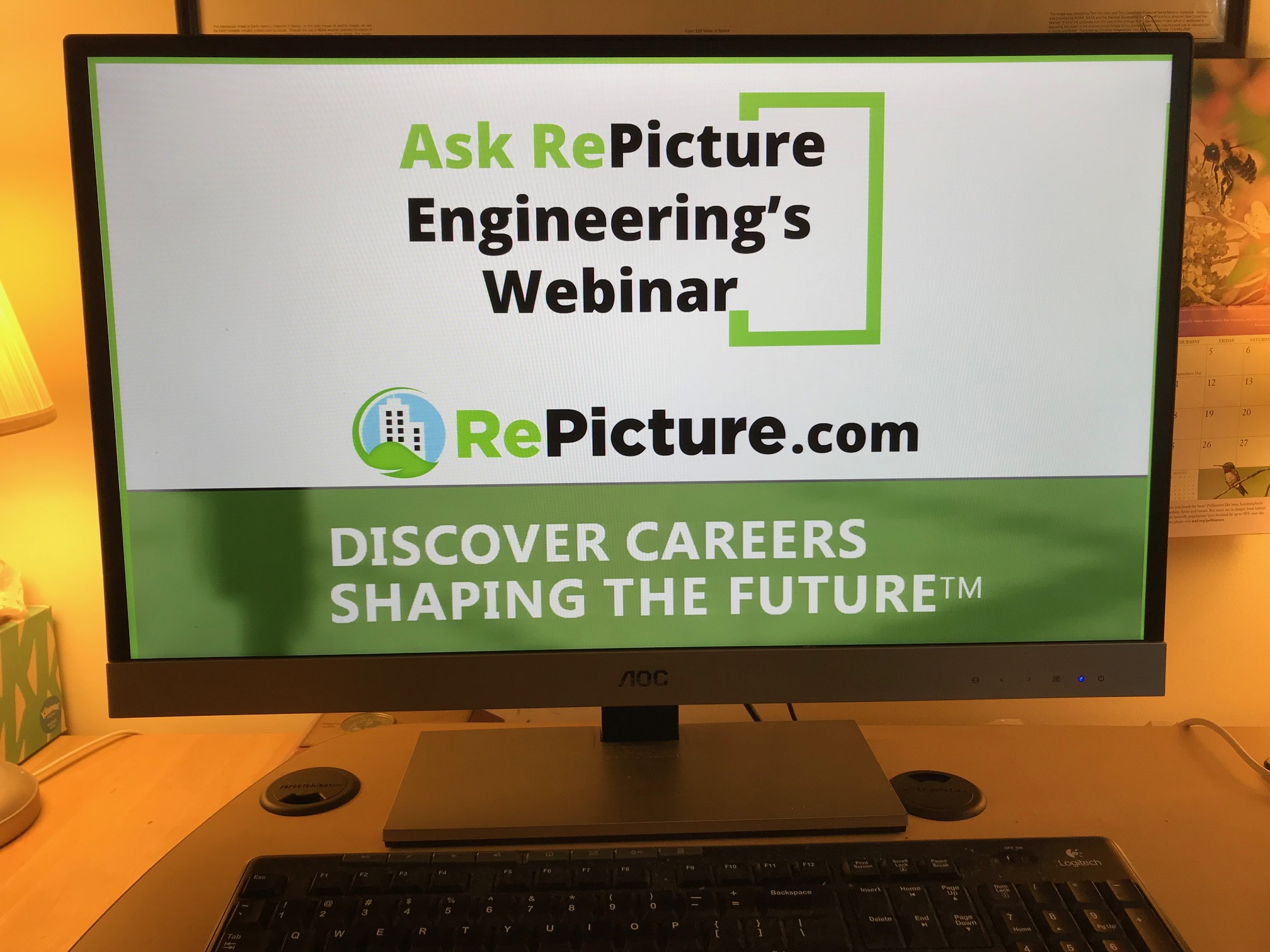 Computer screen of Ask RePicture Webinar for engineering career advice